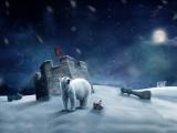 雪地里的北极熊