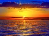 夏季海上日落