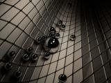 3d黑色圆珠