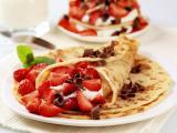 草莓巧克力煎饼