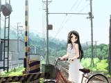 自行车上的女孩
