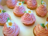 美味的粉色蛋糕