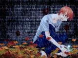雨中忧伤的少年