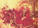 红衣动漫女生