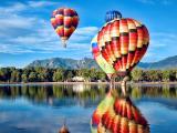 唯美升空热气球