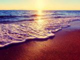 唯美的海上夕阳