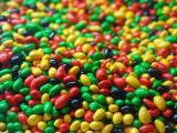 五颜六色的甜蜜糖果