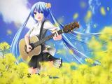 弹吉他动漫女生