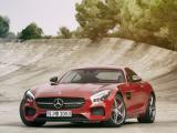 红色奔驰AMG GT