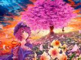 樱花下的西行寺幽幽子