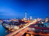德国柏林电视塔夜景