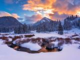 犹他州的雪景