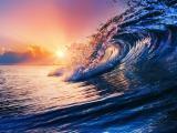 泛起的海浪