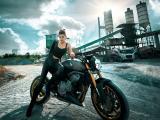 摩托车美女