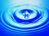 蓝色唯美水滴