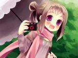 爱摄影的动漫女孩