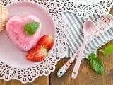 爱心草莓甜品
