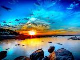 美丽的夕阳风景
