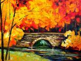 秋天的风景油画