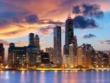芝加哥西尔斯大厦夜景