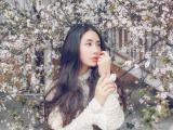 樱花中美女