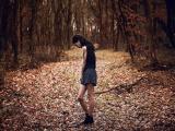 在森林里徘徊