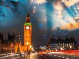 夜幕下的伦敦大本钟