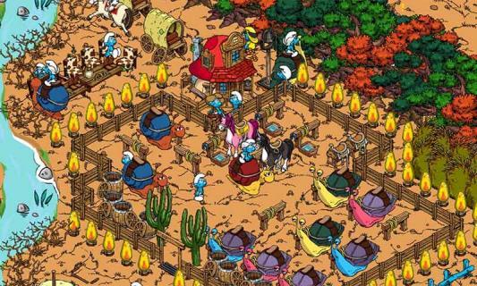 蓝精灵的村庄游戏截图1