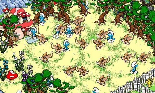 蓝精灵的村庄游戏截图2