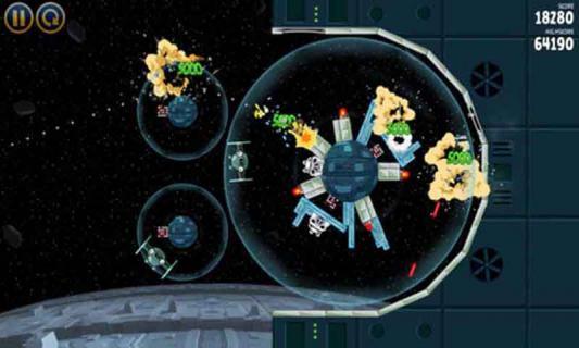 愤怒的小鸟星球大战游戏截图4