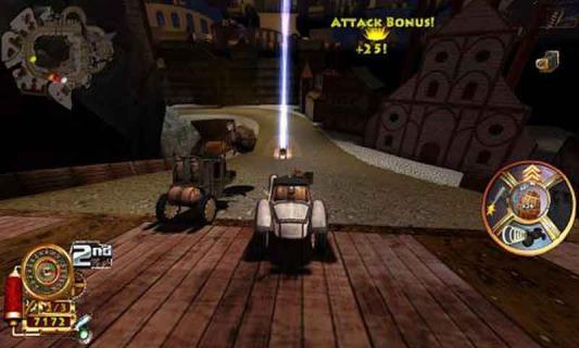 蒸汽朋克赛车游戏截图3