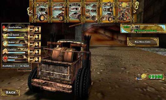 蒸汽朋克赛车游戏截图4