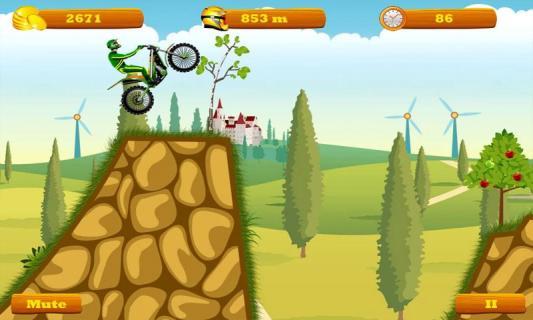 摩托跑酷图片