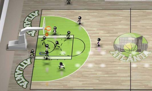 火柴人篮球游戏截图2