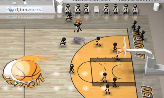 火柴人篮球游戏截图1