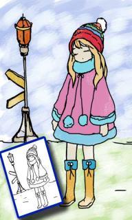 公主涂色绘本图片